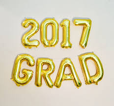 Gold Or Silver 2017 Grads Class Of 2018 Letter Balloons School Class