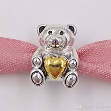 2019 925 sterling silver beads mother s day teddy bear charm fits european pandora style jewelry bracelets necklace 791166 mothers day gift from