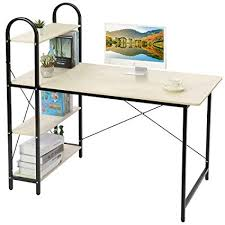 Office study desk Build In Image Unavailable Amazoncom Amazoncom Home Bi Study Desk Home Office Computer Desk With Shelf