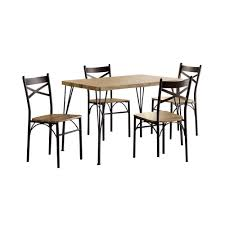 Amazoncom Benzara Bm119854 Industrial Style 5 Piece Dining Table