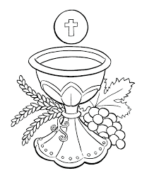 First Holy Communion Coloring Pictures Wellnessworldinfo
