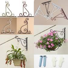 garden patio hanging flower basket iron wall bracket holder hanger decorative hanging baskets for plants