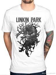 Make Own Merchandise Make Your Own Tee Shirt Mens Linkin Park Antlers T Shirt Rock Band