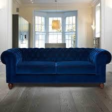 velvet chesterfield sofa. Plain Velvet Chesterfield 3 Seater Velvet Sofa Blue To Sofa H