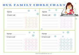 Free Family Chore Chart