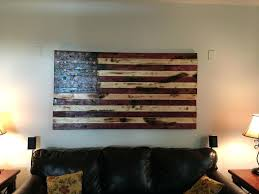 metal and wood american flag hand crafted rustic flag wall art by custom made art metal
