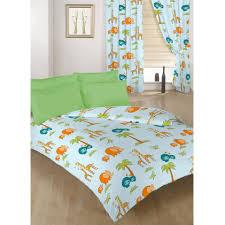 single double size duvet cover set curtains bedding polycotton