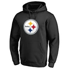 Hoodie Pro Pittsburgh Men's Primary Black Line Steelers Logo Nfl