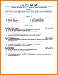 11 Resume For Warehousing Mla Cover Page
