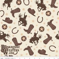 52 best Western Fabric images on Pinterest | Westerns, Cowboys and ... & Western Flannel Fabric by Riley Blake Designs, Brown, Tan, and Cream Rodeo  Fabric Adamdwight.com