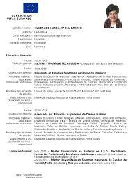 Modelo De Curriculum Vitae Europeo Modelo De Curriculum Zooz1