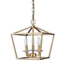enchanting gold pendant light fixture gold cage pendant