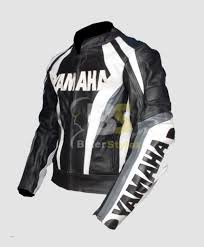 yamaha leather jacket. yamaha hump black \u0026 white motorcycle stylish jacket leather