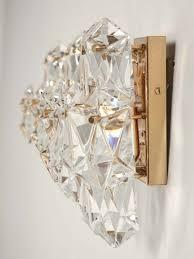 set of 3 vintage kalmar austrian crystal wall sconces