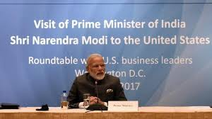 prime minister narendra modi in a round table meeting with the us business leaders at