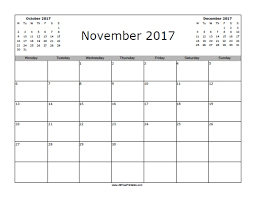 Kalender 2017 November Ritchie