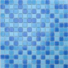 foshan swimming pool small blue glass mosaic tiles for bathroom
