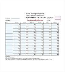 Week Agenda Template Employee Weekly Free 2 Deepwaters Info