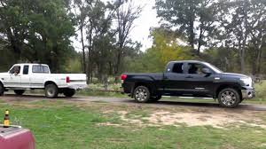 Powerstroke vs Toyota Tundra - YouTube