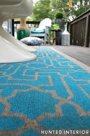how to stencil an outdoor rug she started with a dollar from home depot rugs