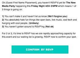 Party Rsvp Template Rsvp Reminder Sample Scrumps