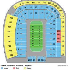University Of Texas Seating Chart Darrell K Royal Texas Memorial Stadium Seating Chart