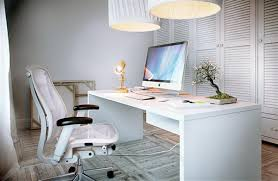 modern home office chairs. fabulous swivel chair facing thin desk under giant lamps completing modern home office chairs