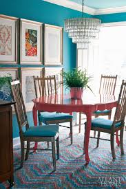painted dining room furnitureColorful Painted Dining Table Inspiration