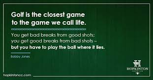 Golf And Life Quotes Cool Golf Life Quotes