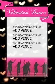 Concert Invite Template Valentines Heart Dance Concert Invitation Flyer Template