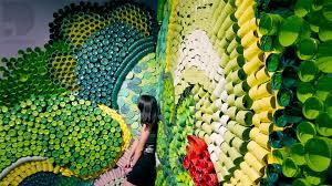 Recycling Plastic Bottles 1000 Recycled Plastic Bottle Art Eden Youtube