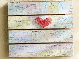 this project combines two of our favorite diy trends maps and string art cathie steve show us how to make an inexpensive piece of wall art with heart  on diy string map wall art with simple string art diy map wall art plaid online