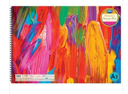 navneet 60 pgs wiro bound 29 7 x 35 cm pink paint strokes drawing book