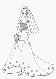 Small Picture Barbie Bride Coloring Pages Free Printable Coloring Pages For Kids