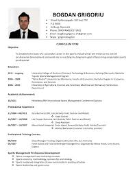 Bogdan Grigoriu Curriculum Vitae Sport. BOGDAN GRIGORIU  Street  Kjellerupsgade ...