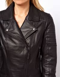 Asos Oasis Quilted Leather Jacket in Black | Lyst & Gallery Adamdwight.com
