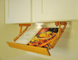 Easy Kitchen Storage Ultimate Kitchen Storage Under Cabinet Lighted Cookbook Holder