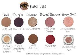 perfect shades for hazel eyes eyeshadow
