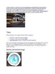 Lampa Cu Xenon Components Materials