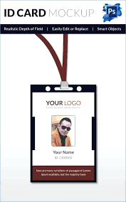 Photo Id Template Free Download Id Badge Freebie Large Camp Offers A Template Free Card Psd