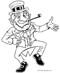 St Patricks Day Coloring St Patricks Day Coloring Pages Dancing Leprechaun