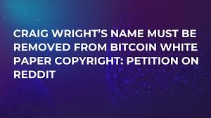 Bitcoin conspiracy theories range from the amusing to the sinister. Craig Wright S Name Must Be Removed From Bitcoin White Paper Copyright Petition On Reddit