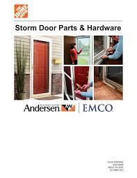 storm door parts hardware andersen