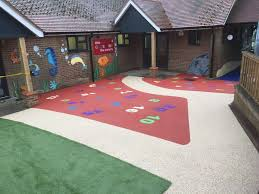 colourful rubber flooring installed by kent flooring supplier