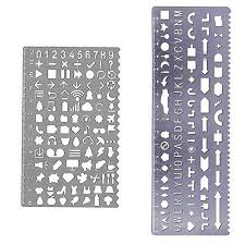 Letters By Number Metal Stencil Letters Numbers Amazon Com