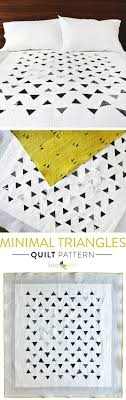 Best 25+ Modern quilting ideas on Pinterest   DIY modern quilting ... & Minimal Triangles Quilt Adamdwight.com
