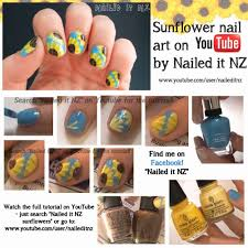 Sunflower Nail Art - Picture Tutorial!