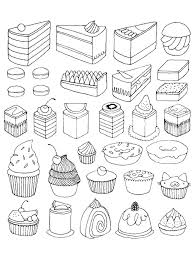 Small Picture Free coloring page coloring adult cupcakes and little cakes