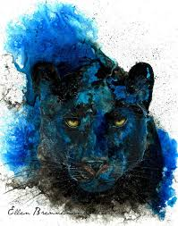 done with acrylic alcohol india inks panther spirit power animal art print by by ellenbrennemanstudio on black panther animal wall art with black panther art print nursery animal art totem cat lover gift