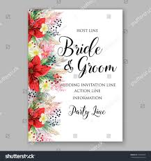 Sample Of Weeding Invitation Sample Wedding Invitation Poinsettia Wedding Invitation
